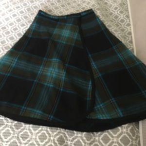 Pendleton wool skirt. Size 6. Vintage and altered.